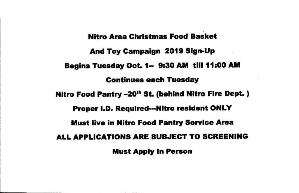 Christmas Nitro Mission Basket & Toy Campaign Form With Info Page 1